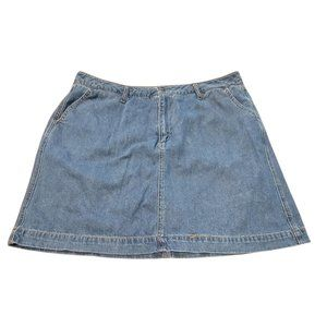 Woman Within Denim Skirt with Shorts 16W JJ904